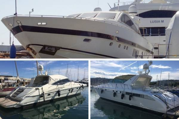 Legal auction of 3 yachts