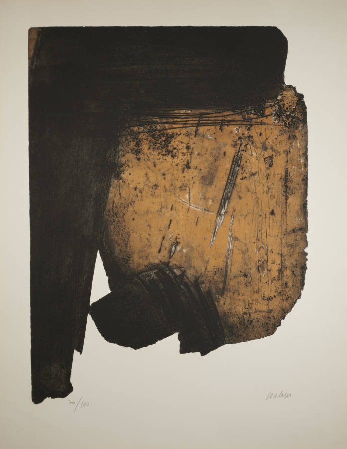 Pierre Soulages Litho 11