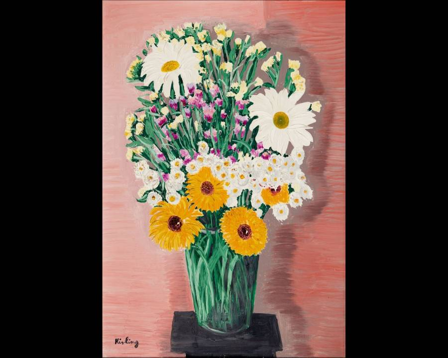 Kisling Nature morte au bouquet
